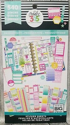 Create 365® The Happy Planner® Productivity 540 Sticker Value Pack Book MAMBI