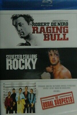 3 Classics on Blu-ray RAGING BULL Rocky The USUAL SUSPECTS 3-Disc Blu-ray SEALED