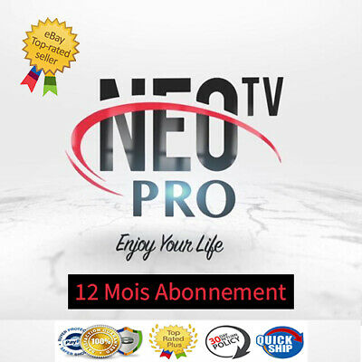 Neo Pro2 IPTV 12 MOIS ABONNEMENT +8000 Chaines  VOD ANDROID BOX MAG KODI
