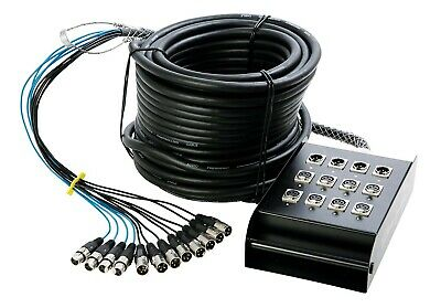 OnStage In-Line XLR Snake Audio Cable 100 Feet 8X4 Channel circuit board box CLR