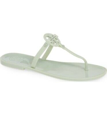 21f792af2d9 TORY BURCH  98 Spring Mint Mini Miller Flat Jelly Thong Sandals Size 6