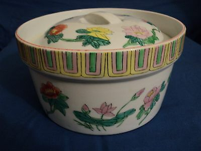 Antique Chinese Porcelain Rice Cooker...great Condition