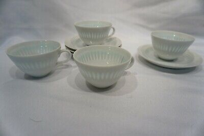 Vintage Arabia Demitasse Cup and Saucer Set of 4 Made in Finland