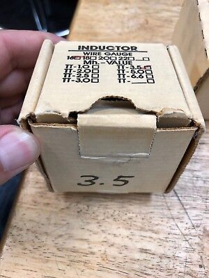 3.5 Mh WOOFER BASS CROSSOVER COIL / INDUCTOR 16ga VINTAGE ROCKFORD FOSGATE NOS