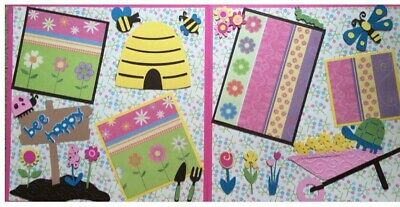 Handmade scrapbook double page 12 X 12 Bee Happy Layout