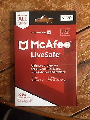McAfee LiveSafe 2018  for Unlimited  Devices / 1 Year (key code)