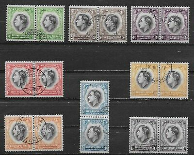 South West Africa , George Vi , Coronation., 1937 ,  2 Sets Of 8 , Perf , Used