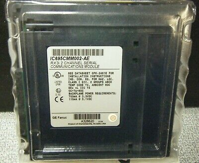 GE FANUC IC695CMM002-AE RX3i 2 CHANNEL SERIAL COMMUNICATIONS MODULE / SEALED