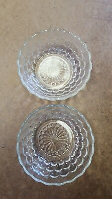 Pair of Anchor Hocking Bubble Dessert Dish Clear. Excellent Used Condition.
