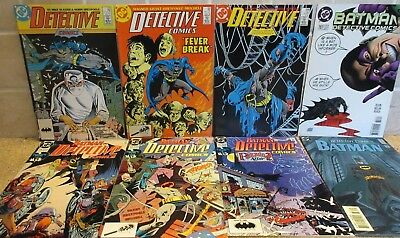 Lot of (8) # 579 - 707 DC Detective Comics Batman 1987 - 97 ( Box 81 )