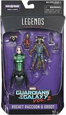 """Marvel Legends Action Figures 6"""" Guardians Of The Galaxy Rocket Raccon And Groot"""