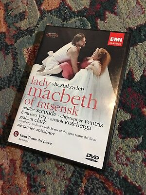 Shostakovich: Lady Macbeth Of Mtsensk (DVD, 2004) LIKE NEW