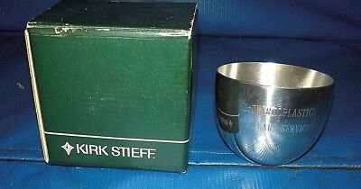 2 Kirk Stieff Co Collection Pewter MONTICELLO JEFFERSON CUP #P50BT  ENGRAVED
