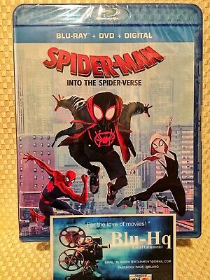 Spider-Man:🕷 Into The Spider-Verse (Blu-ray+DVD+Digital)🕸New* W/Slipcover❗️