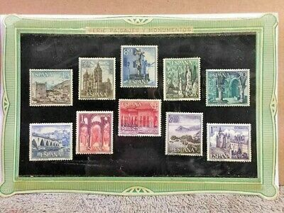 Lot of 10 Spanish Stamps Bought In Spain In 1972