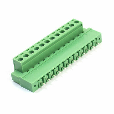 5.08mm Spacing 12-Pin Pluggable Type Screw Terminal Barrier Block Connector