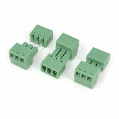 3 PCS 3-Pole 3.5mm Pitch PCB Screw Terminal Block Connector Green AC 300V 8A