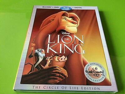 NEW Disney The Lion King Blu-ray + DVD + Digital Signature Collection FREE S/H
