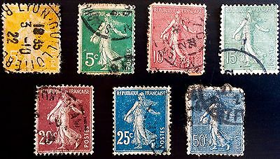 Antique Rare Collectible Set Of France French Postage Stamps