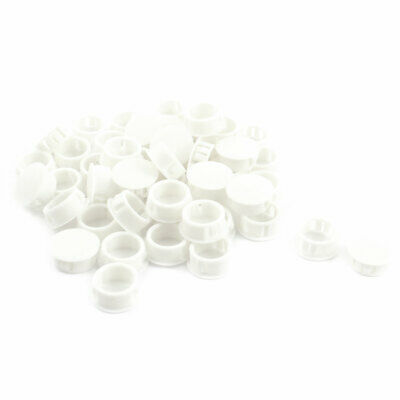 SKT-20 20.1mm Round White Snap in Mounting Locking Hole Cover Fastener 50Pcs