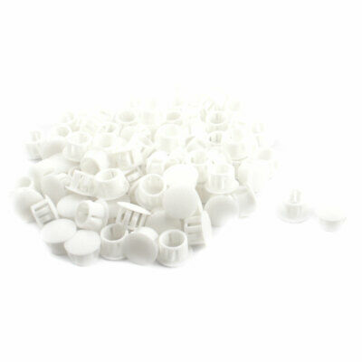 SKT-13 12.7mm Dia Round White Snap in Mount Lock Hole Cover Harness 100Pcs