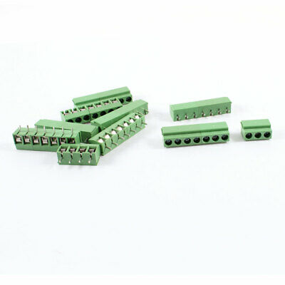 9Pcs 5mm Pitch 7P PCB Mount Screw Terminal Block Connector