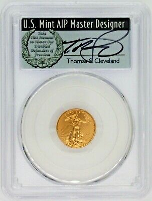 2019 $5 Gold Eagle MS70 PCGS First Day of Issue Thomas Cleveland Wreath