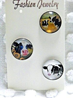 Cow Farm Animal Dairy Milk Cattle Beef Lobster Clip On Dangle Charm for Bracelet