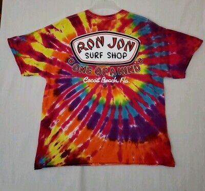 8d716f009 RON JON SURF Shop One Of A Kind Tie Dye T-Shirt Cocoa Beach Florida 2XL (D2