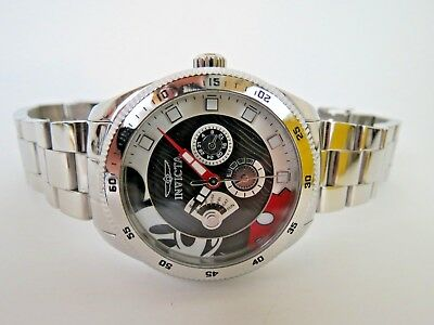 348206ac847 Invicta DISNEY Mickey Mouse Quartz Watch Stainless Steel Multifunction 25456