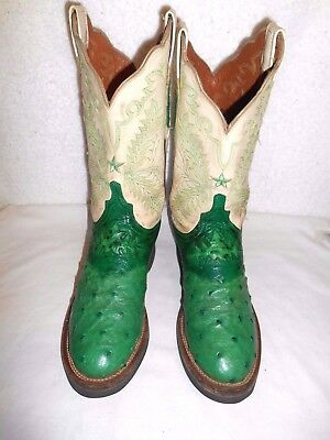 7fd16948500 7.5 C LUCCHESE 2000 Custom Teal & Black Full Quill Ostrich Crepe ...