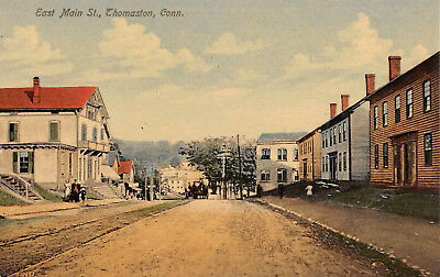 THOMASTON, CT ~ EAST MAIN ST. ~ AUGUST SCHMELZER CO. PUB. ~ c. 1910s