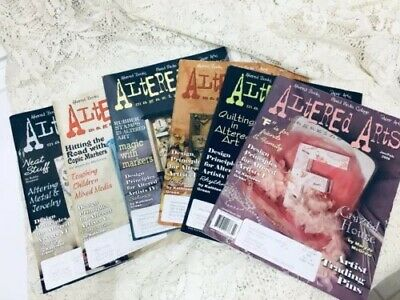 ALTERED ARTS MAGAZINE Lot  Mixed Media Collage 2008 Paper Arts Book Crafts