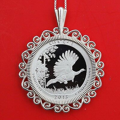2015 Louisiana Kisatchie National Forest Silver Coin Sterling Silver Necklace