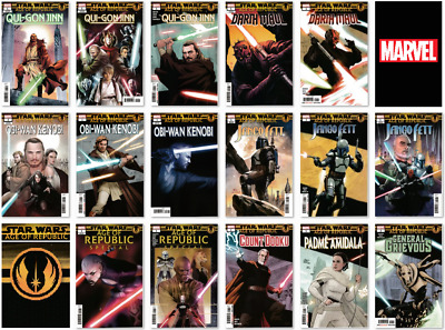 STAR WARS - AGE OF REPUBLIC (AOR) - Regular and Variant Covers - NM - Marvel