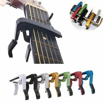 Brand new Tune Clamp Trigger Single-handed Acoustic Electric Guitar Capo Metal