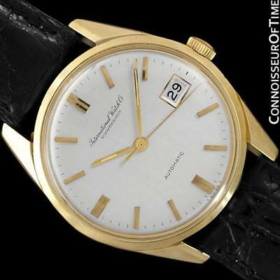 1966 IWC Vintage Mens Full Size 18K Gold Watch - Near NOS with Warranty
