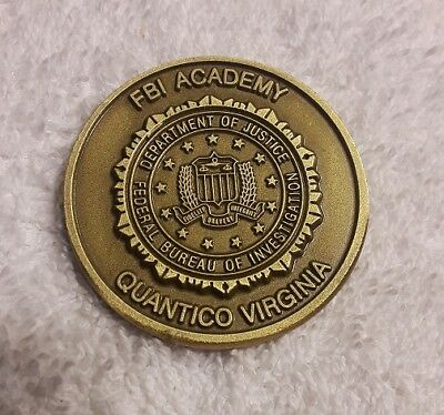 Authentic Fbi Academy Quantico Virginia Fbina 203Rd Session Rare Challenge Coin