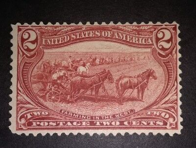 TRAVELSTAMPS: 1898 US Stamps Scott # 286, Farming in the West, mint, ng, unused