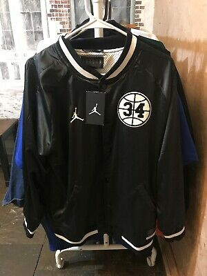 402c46e96f5c Nike Air Jordan He Got Game Retro Satin Varsity Jacket Black White  AR1169-010 L