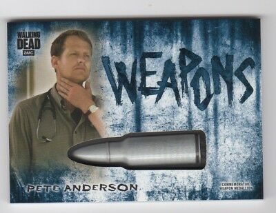 Walking Dead Hunters and the Hunted PETE ANDERSON Weapons Medallion Relic #26/50