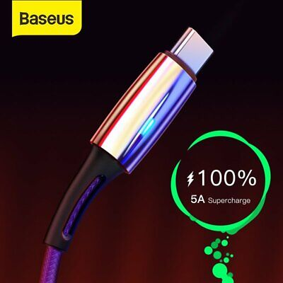 Baseus Upgrade USB Type C Cable 5A Quick Charge Special for Huawei P20 / P20 Pro
