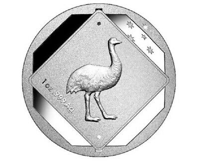 2015 $1 Australian Emu Road Sign -1oz Frosted Uncirculated Silver Coin - RAM