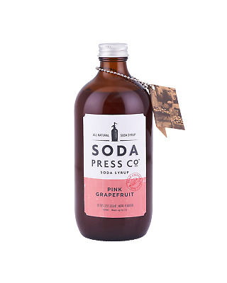 Soda Press Co Pink Grapefruit (Organic Soda & Mixing Syrup) 500mL Other Drinks