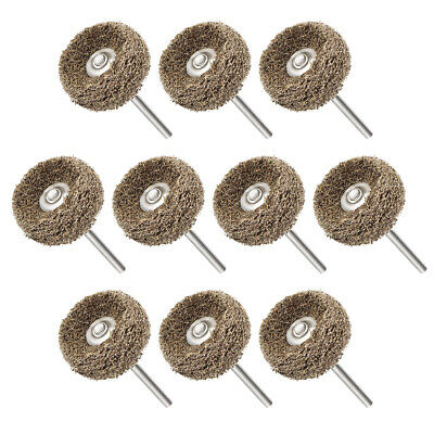 25x12mm Abrasive Wheel Nylon Buffing Polishing with 1/8-inch arbor Yellow 10 Pcs