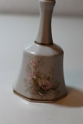 Tischglocke, Limoges, made in France, Blumen, Goldrand *TOP*