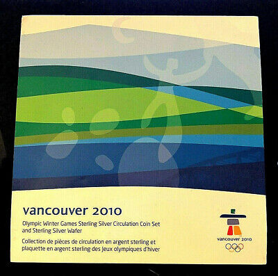 Vancouver 2010 Olympic Winter Games Sterling Silver Circulation Coin Set & Wafer