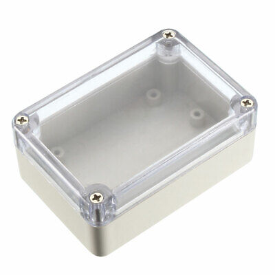 197mm x 117mm x 55mm Plastic Outdoor Electrical Enclosure Junction Box Case Gray