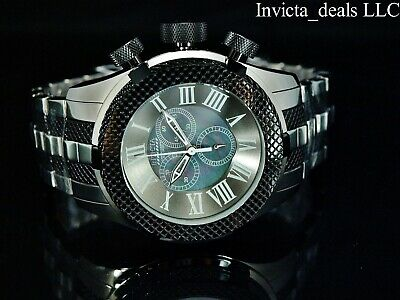 Invicta 50mm Bolt Gen III Swiss Chrono MOP Dial High Polished Two Tone SS Watch
