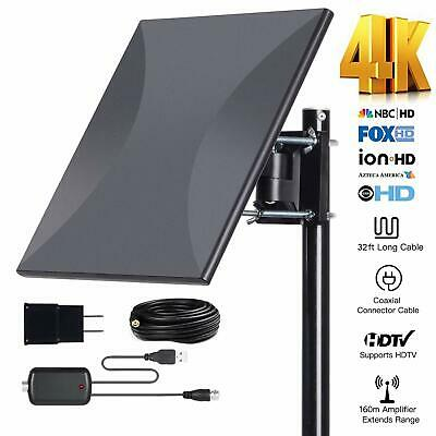 Omni-Directional TV Antennas Outdoor Amplified HD Digital 150 Miles Range With &